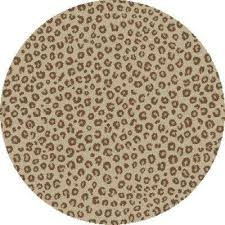 gy leopard ivory 7 ft round area rug