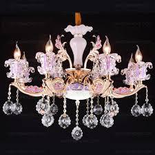 elegant 8 light candle chandelier crystals