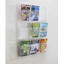 Clear Acrylic Magazine Holder Gorgeous Wall Mount Acrylic Magazine Rack Literature Rack Siegel Display