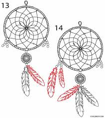 Dream Catcher Patterns Step By Step How to Draw a Dreamcatcher Step by Step Cool100bKids 18