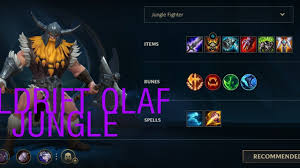 OLAF JUNGLE GAMEPLAY LEAGUE OF LEGENDS ...
