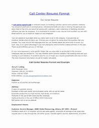 Call Center Resume Sample Lovely 43 Elegant Resume Format For Call