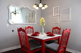sensational dining room with red panache
