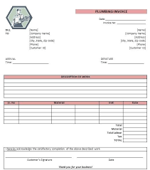 Sample Work Invoice Sample Plumbing Invoice Free Plumbing Invoice Template