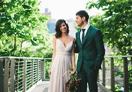 An Intimate New York City Wedding with a Dreamy Purple and Burgundy Color  Palette