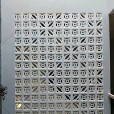 concrete screen wall outdoor breeze block leaf