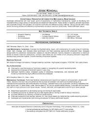Electrical Maintenance Engineer Resume Samples