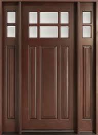 Front Entry Door, Design: Single with 2 Sidelites, Solid Mahogany ...