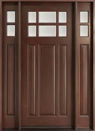 Exterior Door solid exterior door pics : Front Entry Door, Design: Single with 2 Sidelites, Solid Mahogany ...