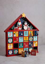 wooden novelty advent calendar 38cm x 35cm