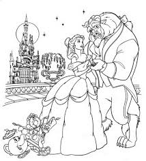 Small Picture Beauty And The Beast Coloring Pages Belle Belle Touches Beast