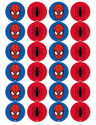 Spiderman Edible Cupcake Toppers Viparty