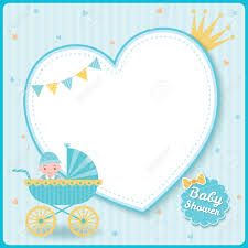 Baby Boy Shower Greeting Card For New Born Girls Decorated With