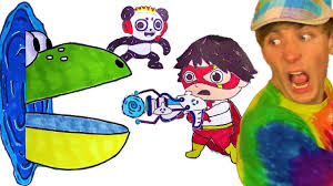 Pac Man Ryan Toysreview Combo Panda Marker Coloring Challenge
