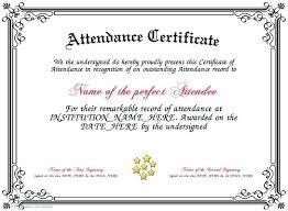 Attendance Maker School Attendance Award Certificate Maker Free Classroom Templates