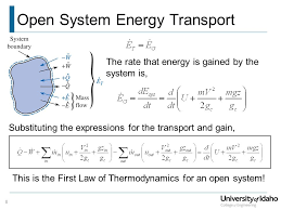 8 open system energy transport