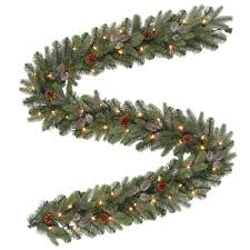 pre lit artificial greenland garland with 217 tips and 50 clear lights