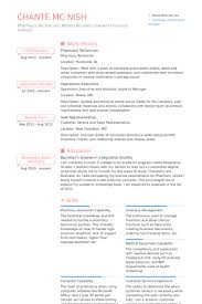 Pharmacy Tech Resume Template Impressive Pharmacy Technician Resume Samples VisualCV Resume Samples Database