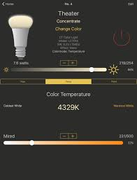 hue lights on the app