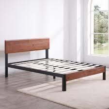 wood and metal platform bed. Modren Wood With Wood And Metal Platform Bed A
