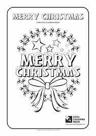 Christmas Coloring Pages Easy 2 Printable Coloring Page For Kids
