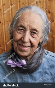 Old Woman Long Gray Hair Stock Photo 572854417 Shutterstock