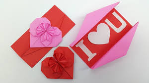 origami heart envelope box diy envelope paper heart card gift for boyfriend girlfriend