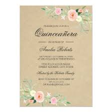 Quincenera Invitations Rustic Floral Boho Quinceanera Invitation Birthday Gift