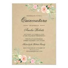 Invitations Quinceanera Rustic Floral Boho Quinceanera Invitation Birthday Gift