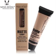 professional base matte foundation makeup face concealer liquid foundation miss rose cosmetic 37ml best cream for dark circles best undereye concealer from