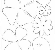 Paper Flower Print Out Free Paper Cut Out Templates Flowers Free Template Design