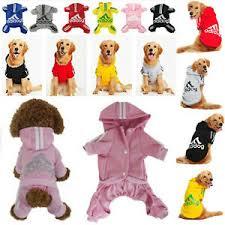 Details About 2 4 Leg Adidog Hoodie Jumpsuit Dog Puppy Winter Warm Coat Pet Cat Apparel Xs 9xl