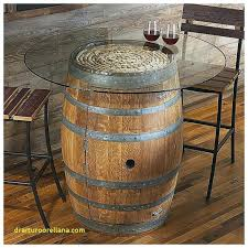 whiskey barrel table handmade round vintage