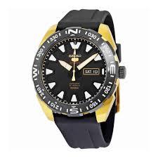 seiko automatic srp750 5 sports black dial luminous markers seiko automatic srp750 5 sports black dial luminous markers rubber band mens watch automatic