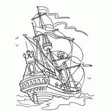 Zeilschepen Van Vroeger Kleurplaten Leuk Voor Kids