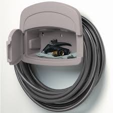 suncast plastic 150 ft wall mount hose reel