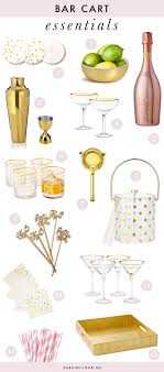 Bar Accessories And Decor Bar Cart Essentials Home Bar Haul Sara Du Jour 100 69