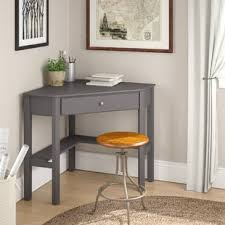 Corner table with shelves Diy Quickview Wayfair Corner Desks Youll Love Wayfair