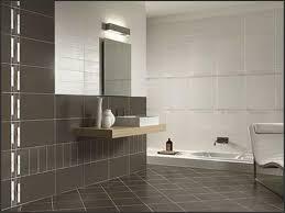 bathroom modern tile. Large Two Tone Brown Bathroom Tiles Paired With Floating Vanity Also Inground Tub Design Modern Tile I
