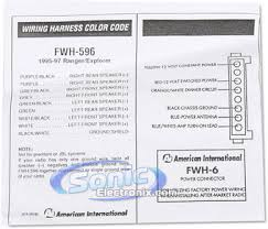 american international fwh 596 (fwh596) wire harness to connect American International Wiring Harness product name american international fwh 596 american international gwh404 radio wiring harness