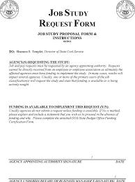 Job Proposal Form Free Job Study Proposal Template Docx 57kb 7 Page S