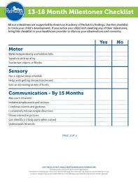 Developmental Milestones Checklist Training Module 3