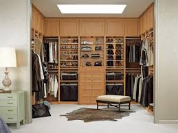 nice brown wooden building a walk in closet