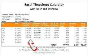 Work Time Card Calculator Overtime Spreadsheet Template Work Time Sheet Format The