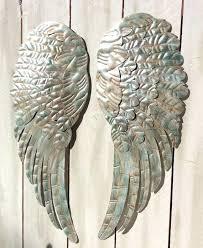 wooden angel wings wall art large metal angel wings wall decor rustic by wood angel wings