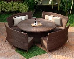 round outdoor dining sets. Charming Decoration Outdoor Dining Table With Bench Sets  Benches Living Green Lawn Rattan Round Outdoor Dining Sets
