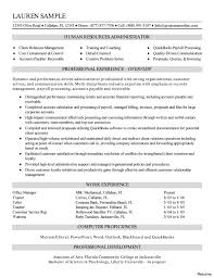 Human Resources Resume Examples Professional Writers Assistant