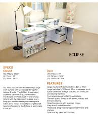 Tailormade Sewing Cabinet Eclipse Elna