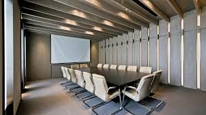 office conference room. Interior:Gorgeous Meeting Room With Wall Decals Also White Conference Table Acrylic Office Chairs O