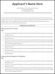Word Doc Resume Template Resume Builder Word Document Beautiful Free Chronological Cv